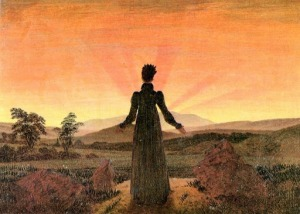 Caspar David Friedrich,Donna di fronte al sole mattutino