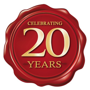 celebrating 20 years wax seal